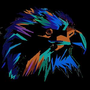 Falke in dunkel Bunt