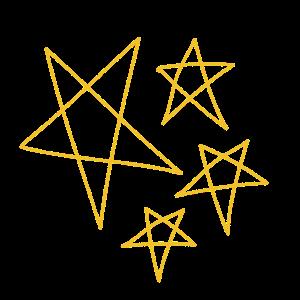 Sterne funkeln in der Nacht