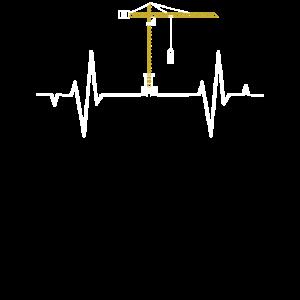Kran - EKG Frequenz T-Shirt