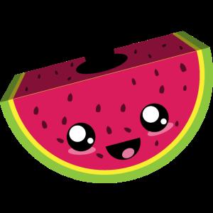 Wassermelone Kawaii