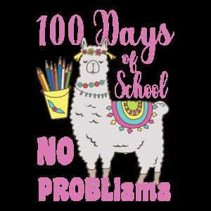 100 Tage Schule No Problama Schulkind Geschenk