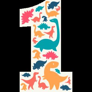 1 Year Birthday Dino Dinosaur T Rex