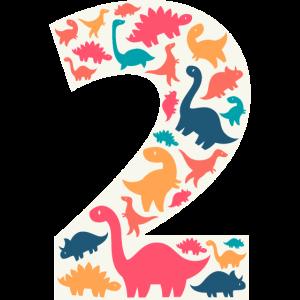 2 - Two Years Birthday  Dino Dinosaur T Rex