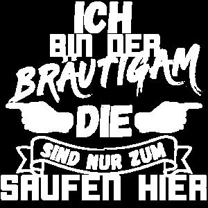 """Junggesellenabschied JGA """"ICH"""" Bräutigam Shirt Set"""