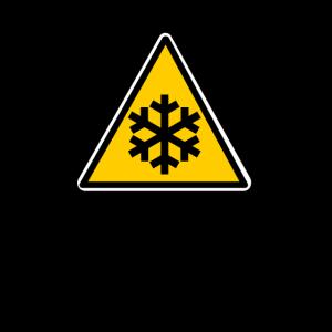 Schnee Eis Gefahrschild