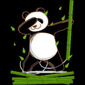 dabbing panda tanzender Panda Baer pandabaer
