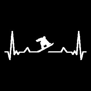 Snowboard Snowboarder Herzschlag Geschenk