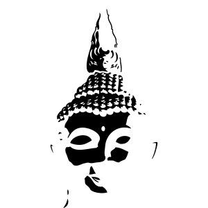 Boeddha hoofd diapositief