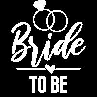 Bride to be - Zukünftige Braut - weiß