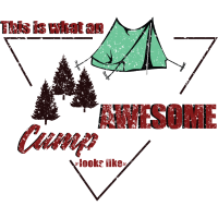 Awesome Camp Geschenk