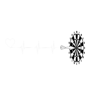 Herz Herzschlag Dart Darts Sport Hobby Geschenk