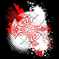 Nordisches Kreuz Kompass Vegvisir