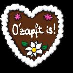Oktoberfest Lebkuchenherz O'zapft is!