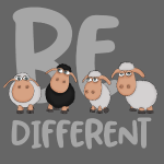 Be different Schafe: Einzigartiges schwarzes Schaf
