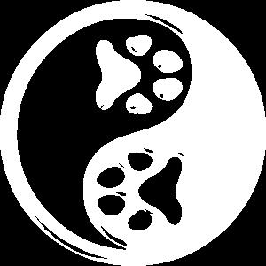 Yin Yang Pfote Katze Hund