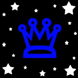 Krone blau