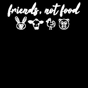 Friends Not Food - Veganer T-Shirt