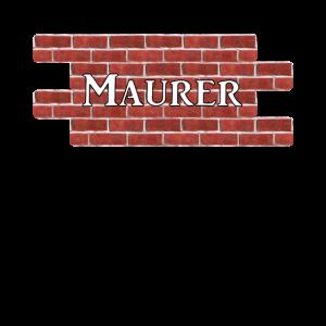Maurer auf Wand