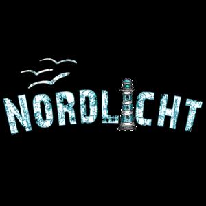 Nordlicht mit Leuchtturm - Yolo-Artwork