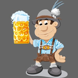 Bier Maßkrug Lederhosen Cartoon Man