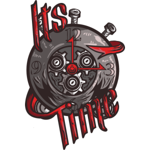 It's time, Steampunk, Uhr, Stahl, Retro, Kunst