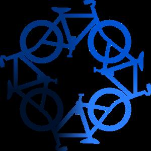 Fahrrad blau