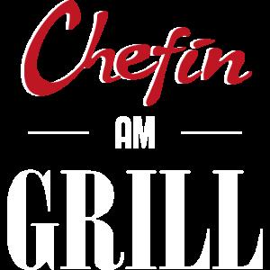 Chefin am Grill