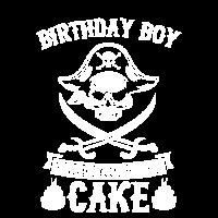 Lustige Auslieferung der Cake Pirate Birthday Boy