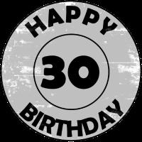 30. Geburtstag, Happy Birthday, Geschenkidee