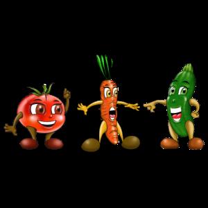 Karotten-Zucchini-Tomate