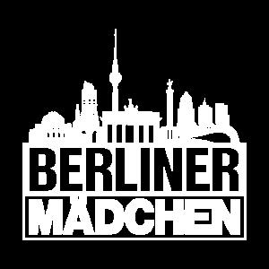 Berliner Mädchen Weiss Berlin Silhouette Geschenk