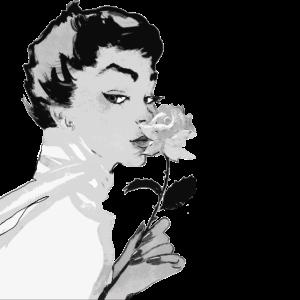Frauengesicht Selbstliebe Grace Anmut Rose Frau