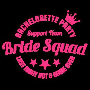 BRIDE SQUAD Hochzeitsfeier JGA Geschenk Team Shirt