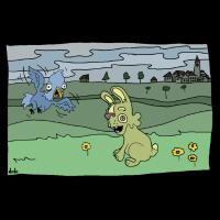 Vogel und Hase, Bird and Rabbit