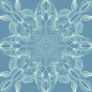 Mandala in Blattoptik