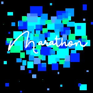 Marathon (blau)