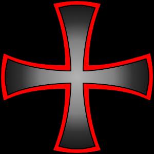 Kreuz rot schwarzer Farbverlauf