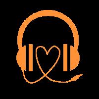 Headset Kopfhörer Earphones Musik Liebe Geschenk