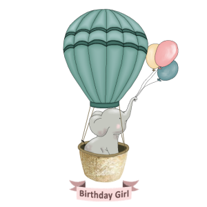 Ballon Birthday Girl