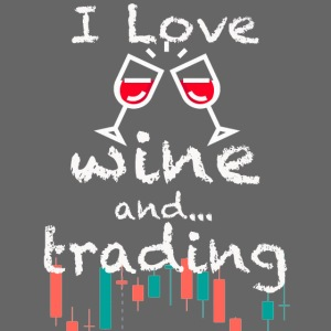 Trader Forex Wallstreet Stock market RedWine Glass
