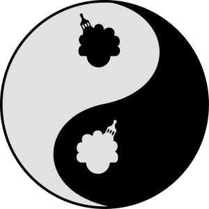 Afro Ying And Yang