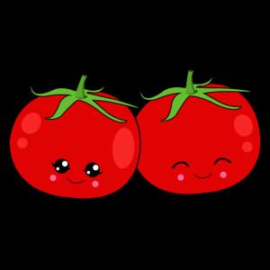 Zwei Tomaten zum Anpassen