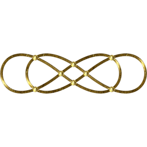 Doppel Lemniskate - Gold