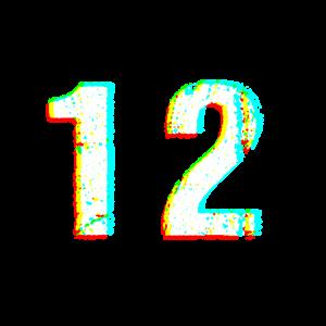 Zahl Ziffer Nummer 12 effekt Festival Geschenk