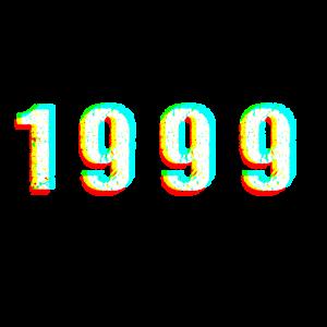 1999 Glitch Zahl Jahrgang Geburtstag Geschenk