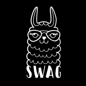 Llama Swag Alpaka Hipster Nerdbrille Geschenk