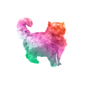 Katzen Silhouette Doppelbelichtung Pastel