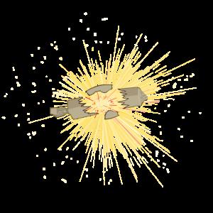 Pyro Feuerwerk Silvester Explosion
