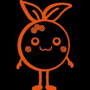Kawaii-Design-Serie: süße Orange