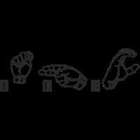 THC Sprüche Zeichensprache Gebärdensprache
